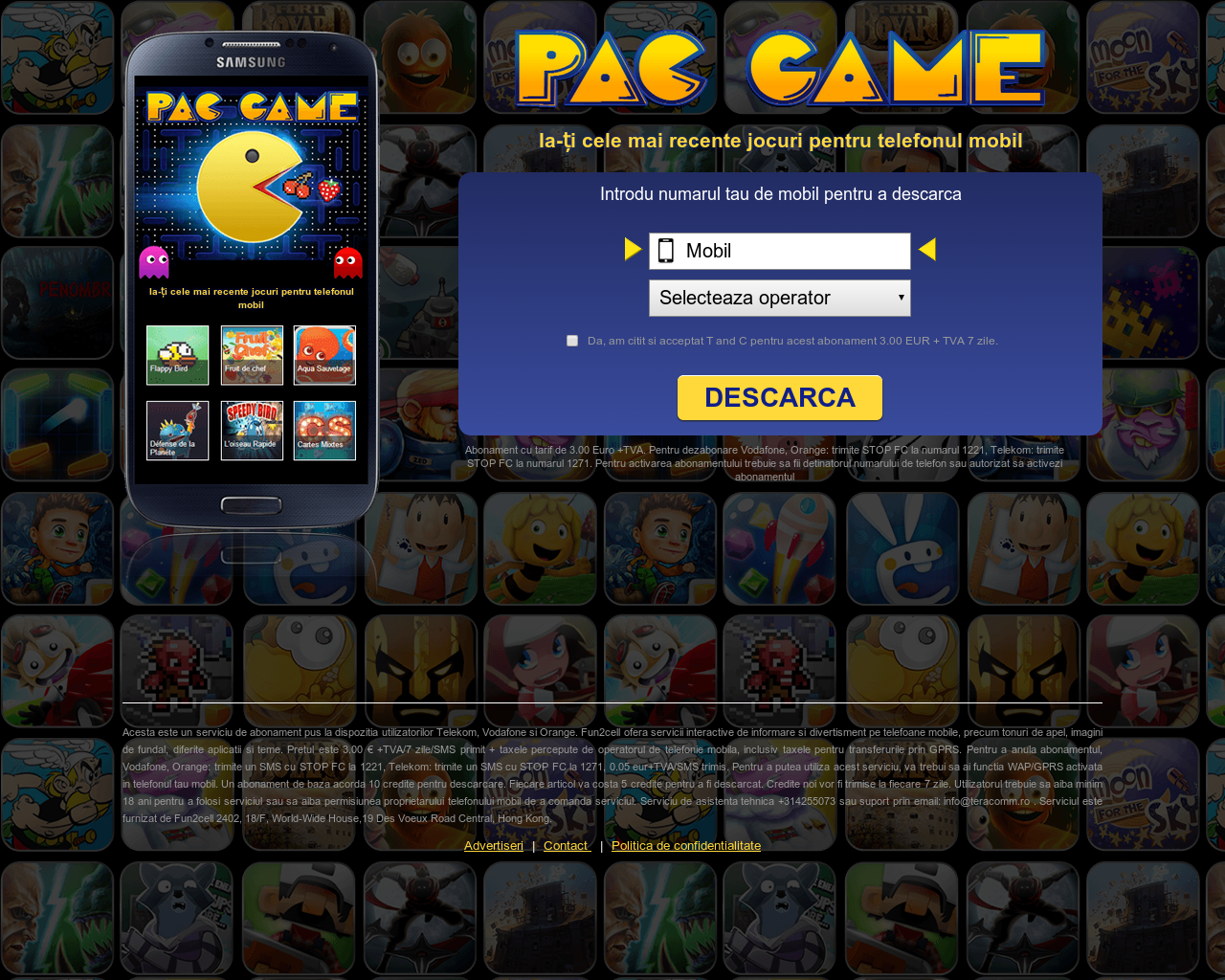 Play Pac Game